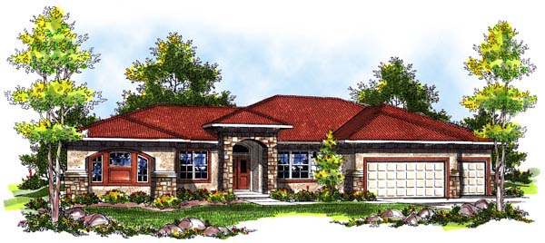 Southwest House Plan 73184 Elevation
