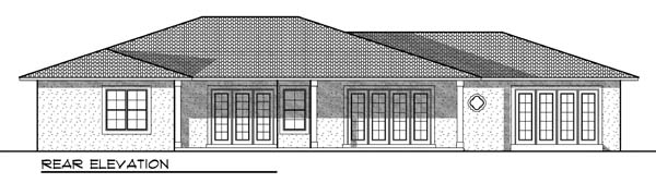 Southwest House Plan 73184 Rear Elevation