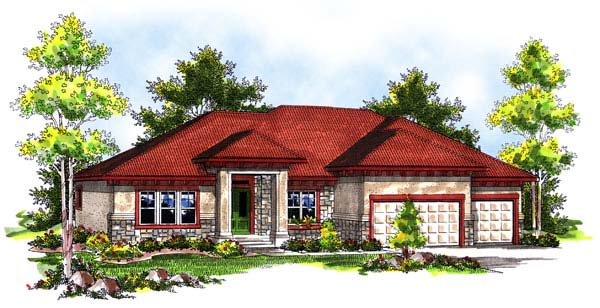 House Plan 73185 | Traditional Style Plan with 2504 Sq Ft, 3 Bedrooms, 3 Bathrooms, 3 Car Garage Elevation