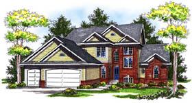 Tudor House Plan 73187 with 4 Beds, 4 Baths, 3 Car Garage Elevation
