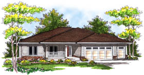 Ranch House Plan 73188 Elevation