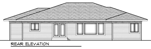 Ranch House Plan 73188 Rear Elevation