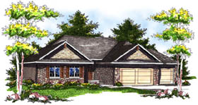 Country Ranch House Plan 73189 Elevation
