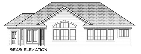 Country Ranch House Plan 73189 Rear Elevation