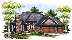 Country Ranch House Plan 73190 Elevation