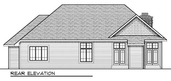 Country Ranch House Plan 73190 Rear Elevation