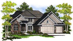 European Traditional House Plan 73191 Elevation