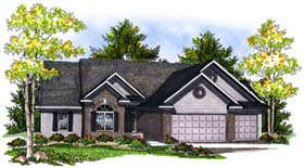 Ranch Traditional House Plan 73193 Elevation
