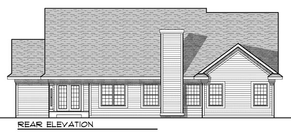 Ranch Traditional House Plan 73193 Rear Elevation
