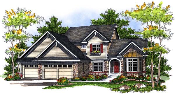 Traditional House Plan 73196 Elevation