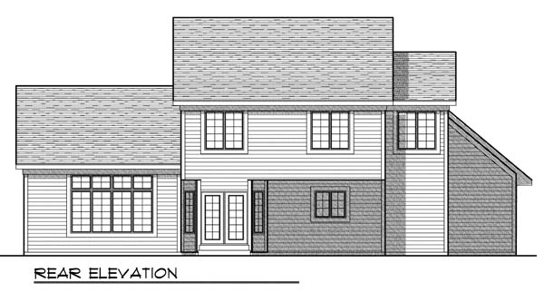 Traditional House Plan 73196 Rear Elevation