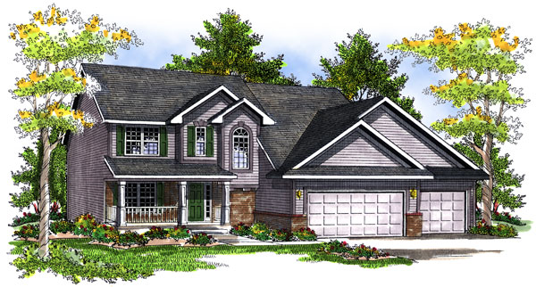 Traditional House Plan 73197 Elevation