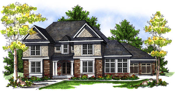 European Traditional House Plan 73198 Elevation