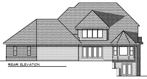 European Traditional House Plan 73198 Rear Elevation