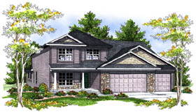 Country Traditional House Plan 73199 Elevation