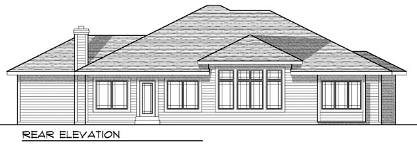 Traditional House Plan 73200 Rear Elevation