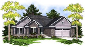 House Plan 73201 | Traditional Style Plan with 1844 Sq Ft, 3 Bedrooms, 2 Bathrooms, 2 Car Garage Elevation