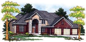 European House Plan 73203 Elevation
