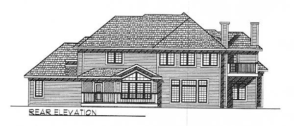 European House Plan 73203 Rear Elevation