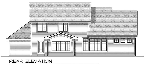 Craftsman Traditional House Plan 73204 Rear Elevation
