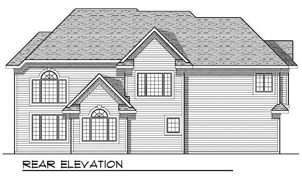 European House Plan 73205 Rear Elevation