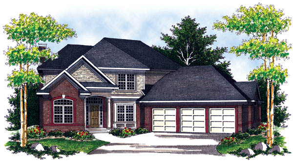 Traditional House Plan 73206 Elevation