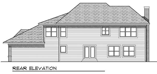 Traditional House Plan 73206 Rear Elevation