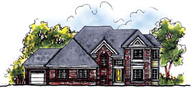 European House Plan 73207 Elevation