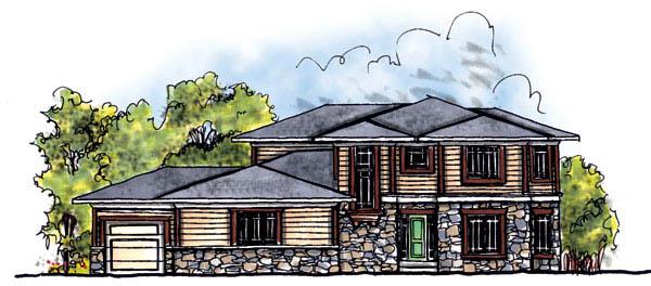 Prairie Style Southwest House Plan 73208 Elevation