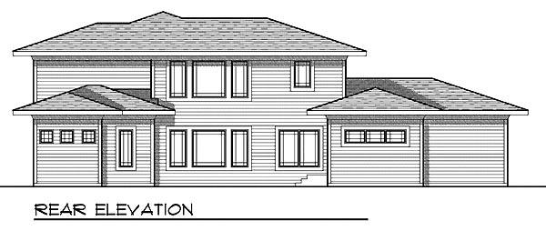 Prairie Style Southwest House Plan 73208 Rear Elevation