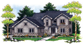 Traditional House Plan 73209 with 4 Beds, 4 Baths, 3 Car Garage Elevation