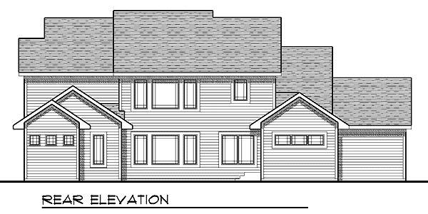 Traditional House Plan 73209 Rear Elevation