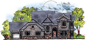 Craftsman European House Plan 73210 Elevation