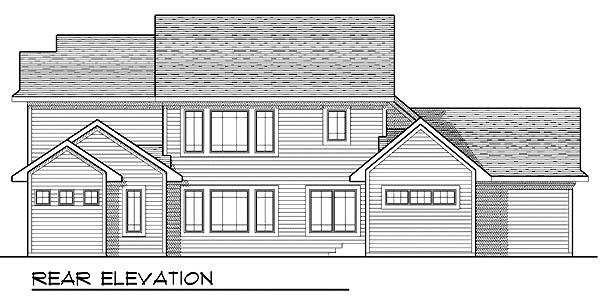 Craftsman European House Plan 73210 Rear Elevation