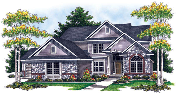 Traditional House Plan 73211 Elevation