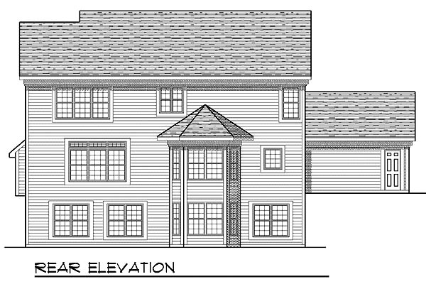 Traditional House Plan 73211 Rear Elevation