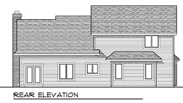 Traditional House Plan 73212 Rear Elevation