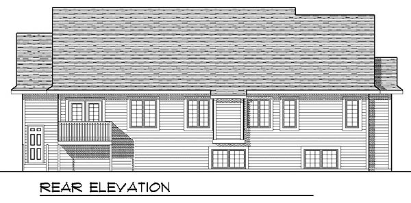 Ranch Traditional House Plan 73213 Rear Elevation