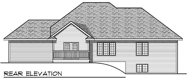 Traditional House Plan 73214 with 3 Beds, 2 Baths, 3 Car Garage Rear Elevation