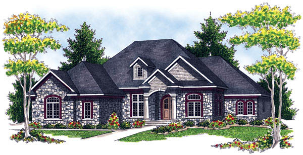 European House Plan 73216 Elevation
