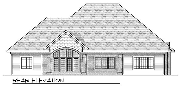 European House Plan 73216 Rear Elevation