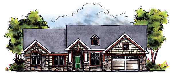 Bungalow Craftsman Elevation of Plan 73217