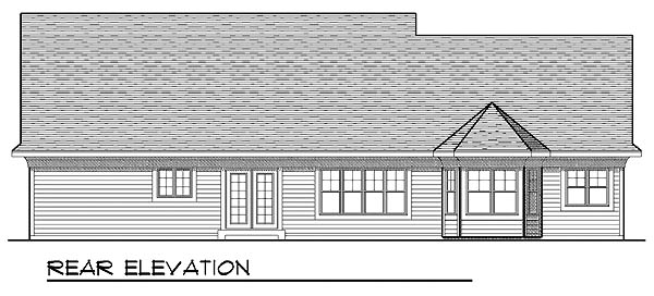 Bungalow Craftsman House Plan 73217 Rear Elevation