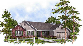 House Plan 73220 | Craftsman Ranch Traditional Style Plan with 1810 Sq Ft, 3 Bedrooms, 2 Bathrooms, 3 Car Garage Elevation