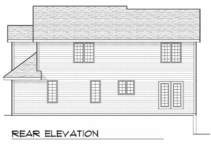 Contemporary House Plan 73221 Rear Elevation