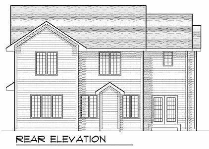 Traditional House Plan 73222 Rear Elevation