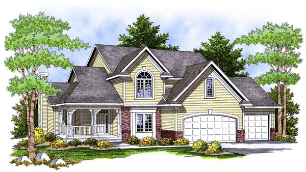Farmhouse House Plan 73224 Elevation