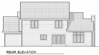 Farmhouse House Plan 73224 Rear Elevation