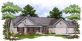 Ranch Traditional House Plan 73226 Elevation