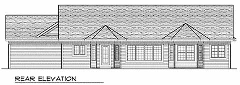 Ranch Traditional House Plan 73226 Rear Elevation